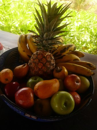 Playa Viva : fresh fruit and vegetables comes from onsite gardens and is plentiful
