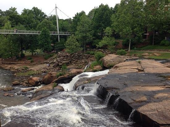 Falls Park on the Reedy: Calm Day For The Falls
