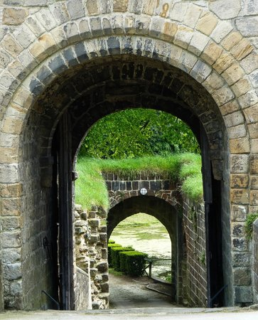 Prudhoe Castle: The entrance (from inside)