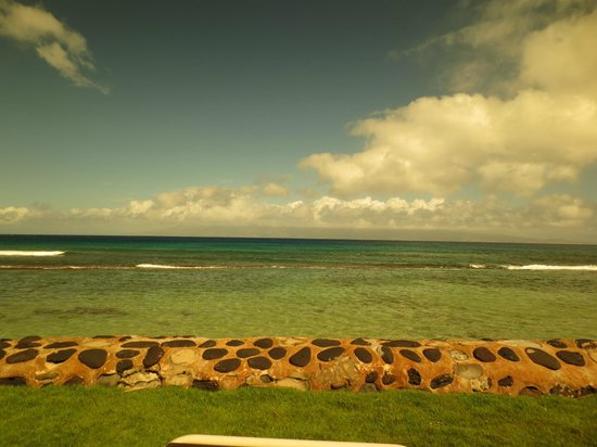 Aston at Papakea Resort: View from sea wall