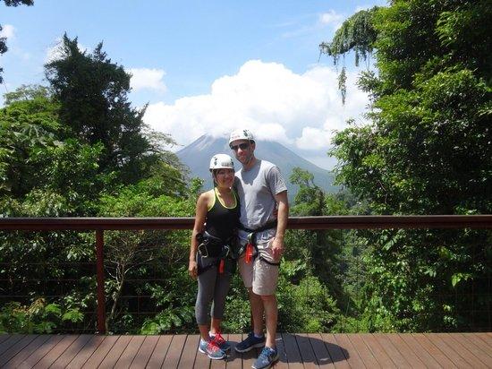 Costa Rica Sky Adventures - Arenal Park: Volcano view