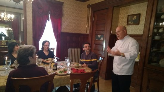 1897 Beekman House : Chuck sharing his culinary expertise