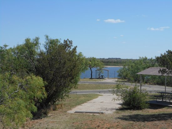 Colorado City, TX: Lake view when leaving