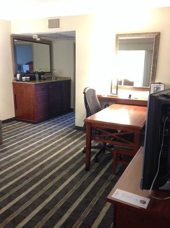 Embassy Suites by Hilton Hotel San Francisco Airport (SFO) - Waterfront : Work area in the room