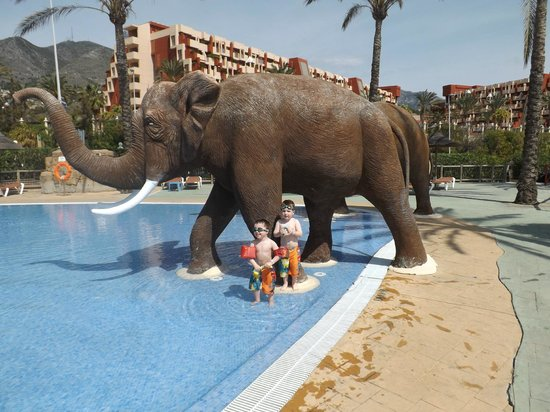 Holiday Palace : little ones in pool at beach club