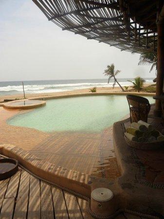 Playa Viva: the pool and Pacific Ocean beyond