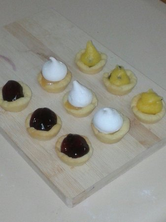 Little Kitchen on the bay: Little treats from Little Kitchen. Mini lemon meringue pies, mini cherry and passionfruit tarts!