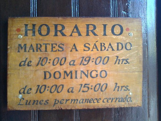 Diego Rivera Museum and Home (Museo Casa Diego Rivera): Working hours at Museum