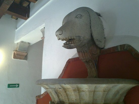 Diego Rivera Museum and Home (Museo Casa Diego Rivera): Dog head at top of the fountain