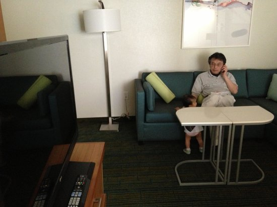 SpringHill Suites Anaheim Maingate: Desk and couch in 1br suite