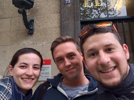 National Socialism Documentation Center : Laura, Ralff and Santi (Front of EL-DE Haus)