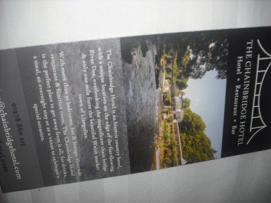 Chainbridge Hotel: Rushing River View