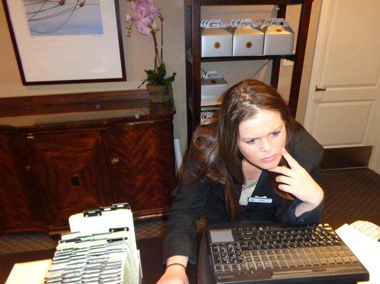Salem Waterfront Hotel & Suites : katie hard at work