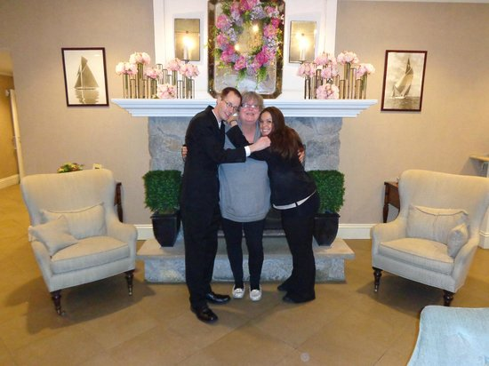 Salem Waterfront Hotel & Suites: My birthday with Ryan & Katie (they're the ones in black)