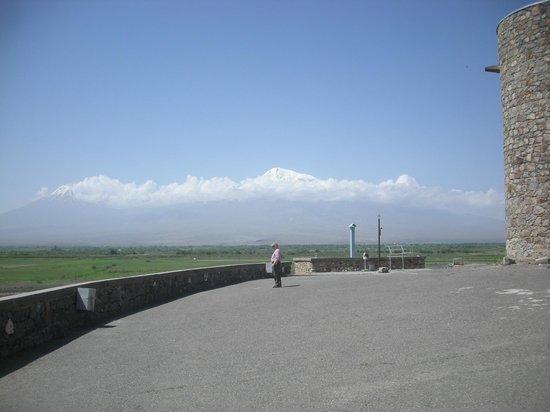 Khor Virap: Outside the monastery, looking toward Mt. Ararat