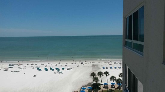 Sarasota Surf and Racquet Club: view from outside room door