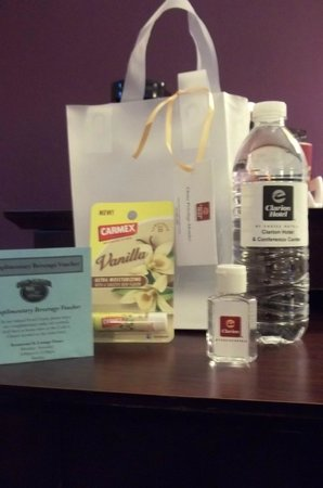 Clarion Hotel Airport: This little bag of goodies was a result of my membership in Choice Privileges.  I recommend it.