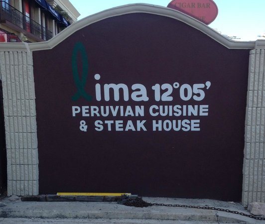 Lima 12 05 Peruvian Cuisine & Steak House: Entrance Sign