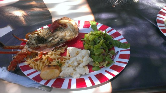 Creole Cruises Antigua: Awesome lobster lunch