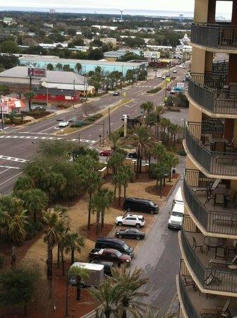 Emerald Grande at HarborWalk Village: View Towards Land from 10th Floor Balcony