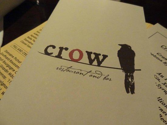 Crow Restaurant & Bar : menu