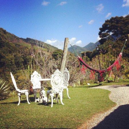 Pousada Sao Sarue Chales: Uma linda vista da pousada!