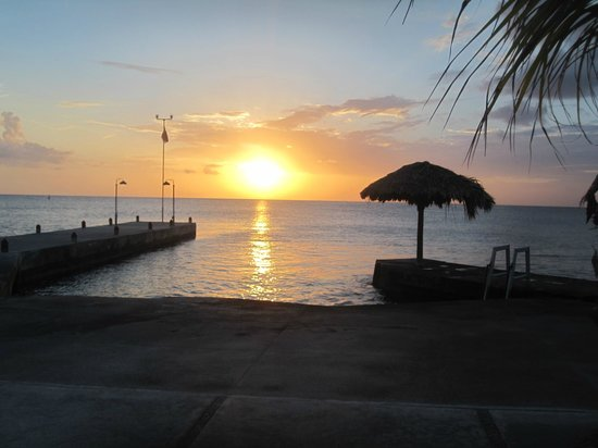 Scuba Club Cozumel: View at sunset from the grounds.