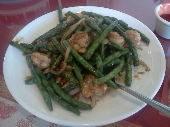 Happy Garden : green bean shrimp