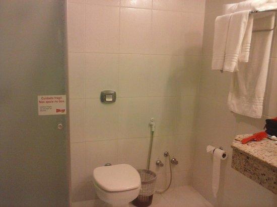 Foz Plaza Hotel: Banheiro grande.