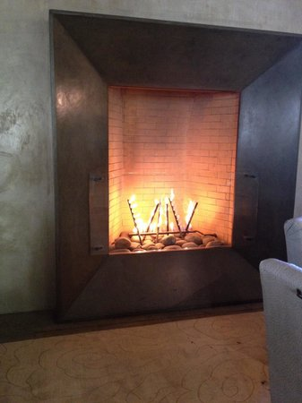 Hotel Healdsburg: lounge fireplace