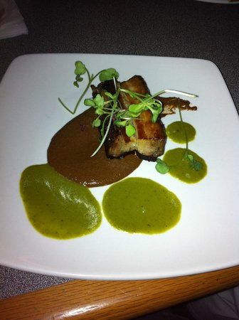 Outer Banks Brewing Station : pork belly appetizer