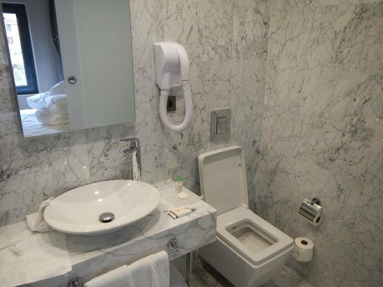 Boutique Saint Sophia Hotel : Tiny bathroom