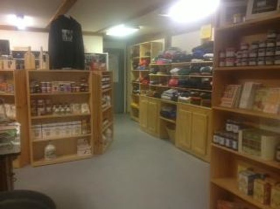 Inside of the Sugar Shack Store
