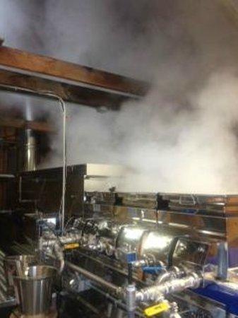 Sugar Shack : Our evaporator making the sweet stuff!