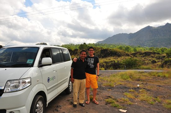 Cheap Bali Driver - Day Tours: Made and I at the bottom of Mount Batur