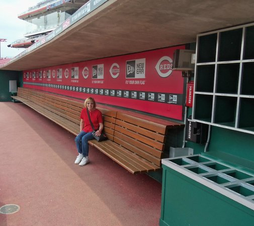 Cincinnati Reds Hall of Fame & Museum: in the Reds dugout