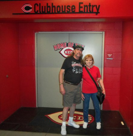 Cincinnati Reds Hall of Fame & Museum: entry to Reds clubhouse
