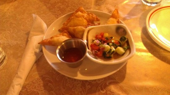 Indochine: fried cheese and crab
