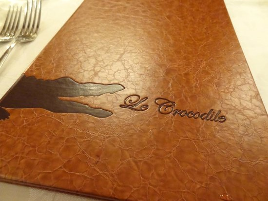 Le Crocodile : menu