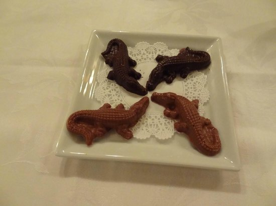 Le Crocodile: take home chocolate crocodiles :)