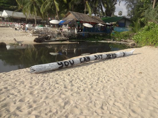 Surin Beach: Yeah, have a seat and enjoy the stench