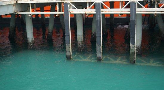 Broome Deep Water Wharf & Jetty: The wharf.