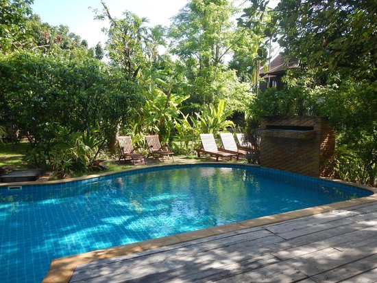 Baan Orapin Bed and Breakfast: Pool, your view at breakfast