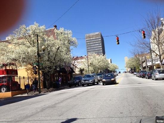 Urban Trail: Biltmore Avenue near the Aloft Hotel in early spring.