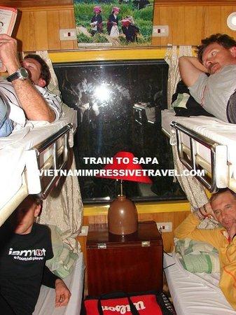 Vietnam Impressive Travel - Private Day Tours: deluxe cabin train to sapa