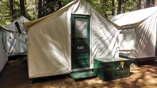 Half Dome Village Tent Cabin & Tent Cabin - Picture of Half Dome Village Yosemite National Park ...