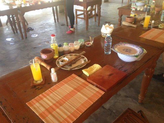 Thuan Tinh Island: My well organised and prepared work station