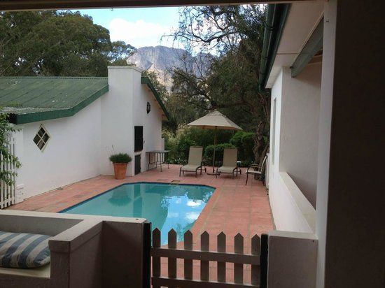 Bartholomeus Klip Farmhouse: Private Swimming Pool at The Wild Olive House