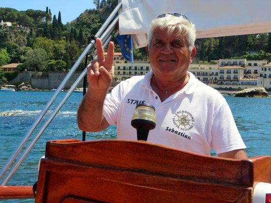 Boat Excursion at Mazzaro Bay: Captain Sebastiano!