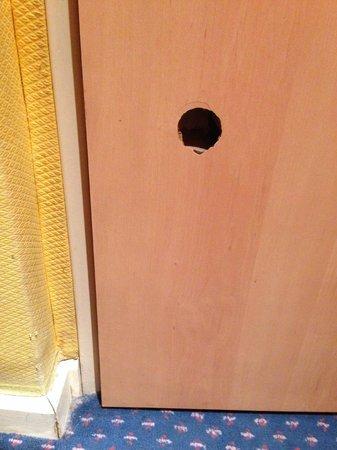 Hotel Regence: Toilet door